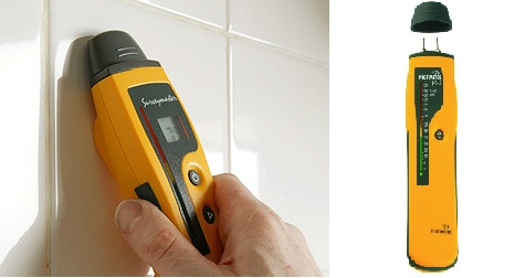 An Electronic Moisture Meter - Measures the degree of moisture behind a surface such as basement floors and walls, tile shower walls and around the base of toilets to determine if higher than normal moisture levels are present that may lead to issues.