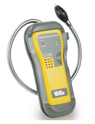 A combustible gas detector detects small amounts of combustible gases. We also use our nose since the most common combustible gases – natural gas and propane – have odors added that are easy to detect.